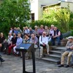 Eröffnung der Ausstellung Dichter und Moralphilosoph. Christian Fürchtegott Gellert zum 300. Geburtstag im Garten des Schillerhauses