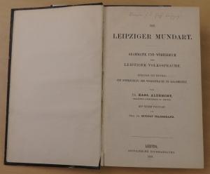 Leipziger Mundart von Dr. Karl Albrecht