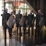 Installation des Polizeiaufmarsches