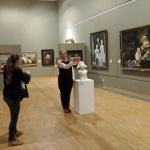 Fotoshooting in der Ausstellung