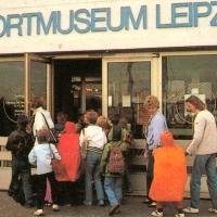 Bis 1991 befand sich das Sportmuseum auf der Dammkrone des Zentralstadions,