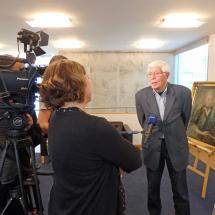 Hartwig Eickhoff im Interview mit der MDR-Redakteurin