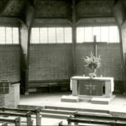 Innenaufnahme Trinitatiskirche, 1950