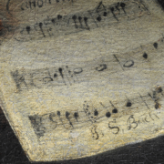 Das Notenblatt in Bachs Hand nach der Konservierung, Foto: Rüdiger Beck