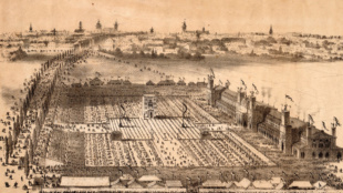 Festplatzansicht, Lithografie, 1863