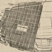 Bebauungsplan der Südseite der Stadt Leipzig, um 1868