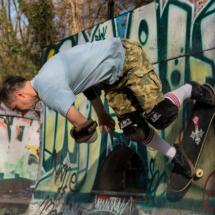 ... und als Skater in der Halfpipe 2018. Foto: Torsten Schubert