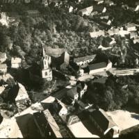 Luftbild von Knauthain, um 1930