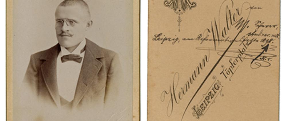 Student Scherer, Foto Hermann Walter, 1898