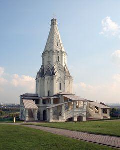 Die Christi-Himmelfahrts-Kirche von Moskau